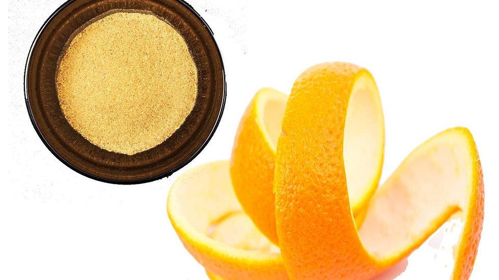 Cáscara de naranja en polvo