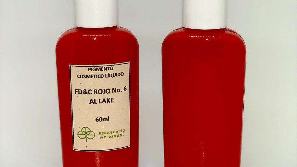 FD&C Rojo No. 6 AL Lake, líquido