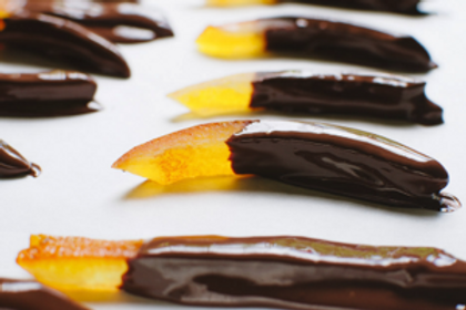 Chocolate Covered Dried Orange Strips (Per Pound)
