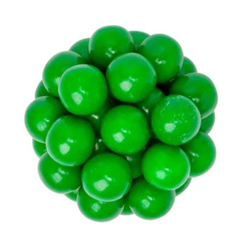 Green Gumballs 1 Inch