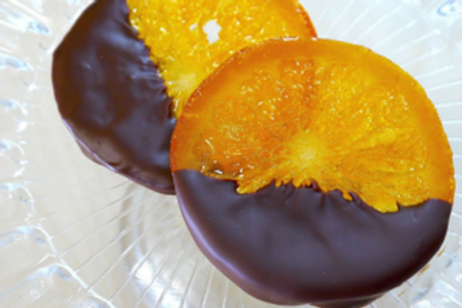 Chocolate Covered Dried Orange Slices (Per Pound)