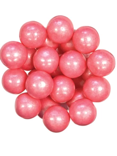 Shiny Pink Gumballs 1 Inch