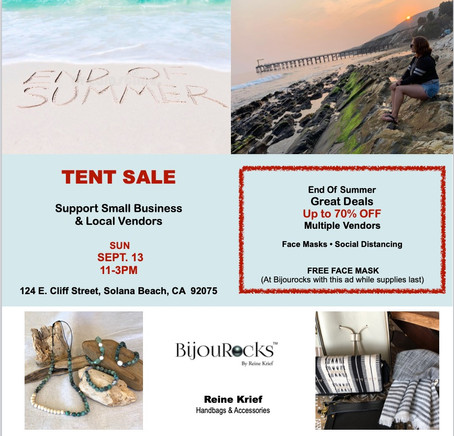 End of Summer Tent Sale