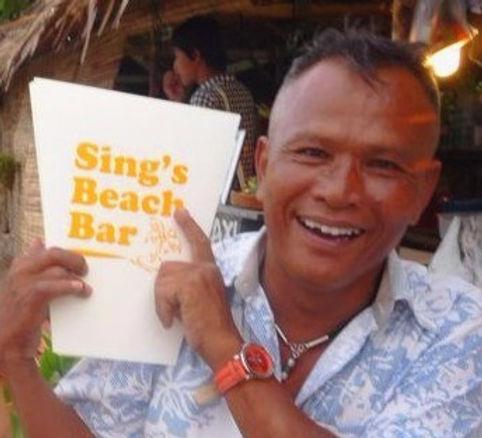 Sing's Beach Bar and Restaurant near Pak Nam Pran Beach next Evason and Sheraton Villas, Hua Hin, Pranburi, Thailand