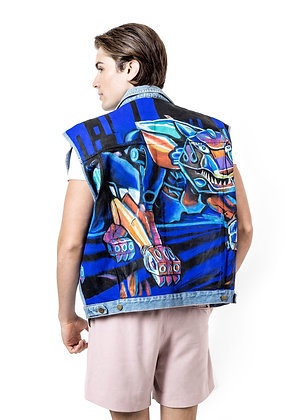 CHALECO NEON PINTADO A MANO / Hand Painted Neon Vest