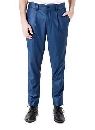 PANTALÓN DE LANA AZULES BRILLANTES / Bright Blue Wool Pants