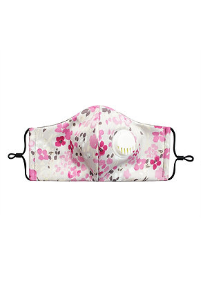PINK FLOWERS - Breathable Valve Face Mask