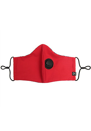 RED- Breathable Valve Face Mask