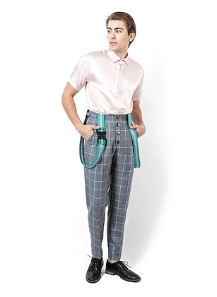 PANTALÓN GRIS CON TIRANTES / Grey Trousers with Straps
