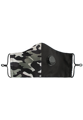 GREEN CAMOUFLAGE - Breathable Valve Face Mask
