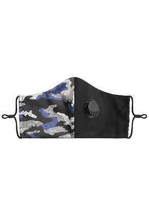BLUE CAMOUFLAGE - Breathable Valve Face Mask