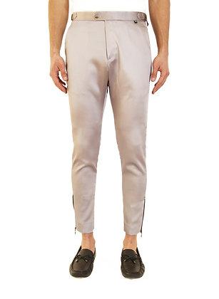 PANTALÓN BRILLOSO PLATEADO / Shiny Silver Trousers