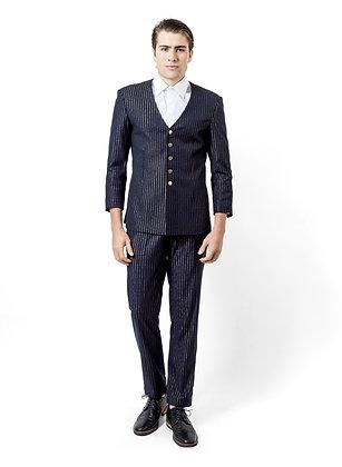 TRAJE AZUL CON LINEAS DORADAS / Blue Suit with Golden Lines