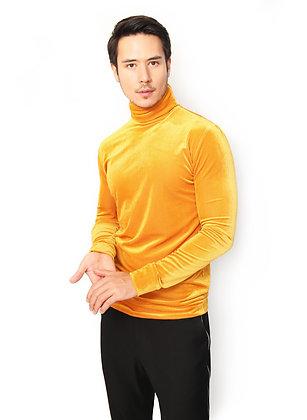 SUÉTER TERCIOPELO AMARILLO / Yellow  Velvet Sweater