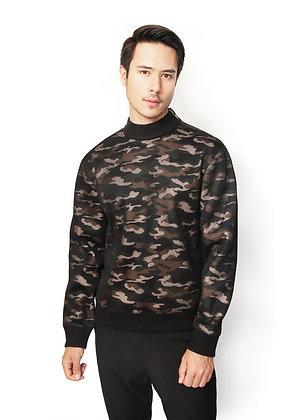 SUÉTER CAMUFLAJE VERDE / Green Camouflage Sweater