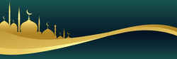 golden-islamic-banner-with-mosque-design