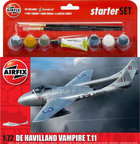 Airfix Medium Starter Set - De Havilland Vampire T.11