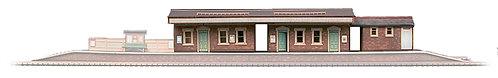 Superquick Model Card Kit - Island Platform Building