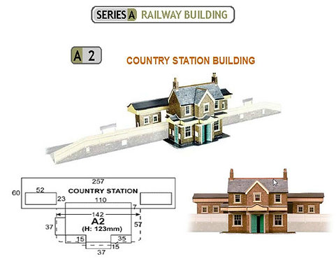 Superquick Model Card Kit - Country Station Building