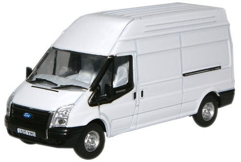 Oxford Diecast Ford Transit LWB- Frozen White