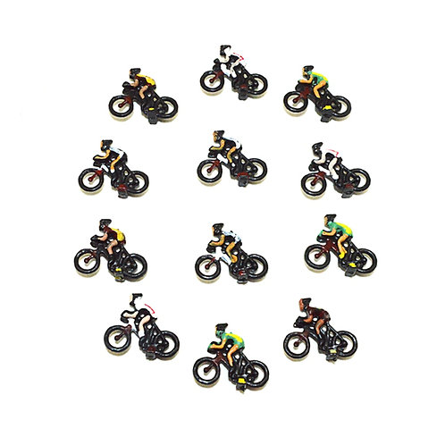 00 Gauge/1:87 Scale Model Railway Cyclists Figures - Packs of x3