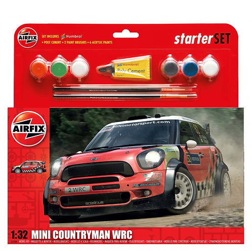 Airfix Large Starter Set - Mini Countryman WRC