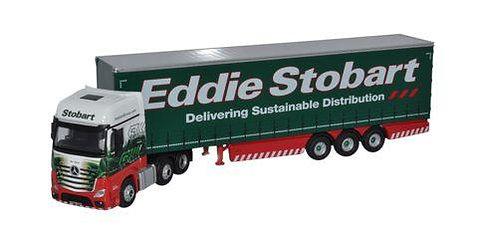 Oxford Diecast Mercedes Actros Curtainside - Eddie Stobart Livery