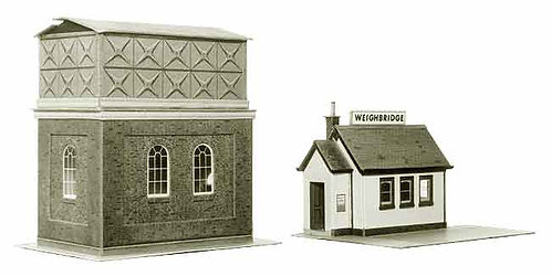 Superquick Model Card Kit - Water Tower & Weigh House