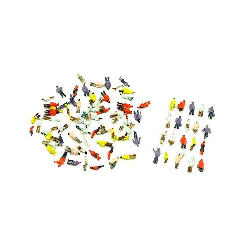 1:150 N Scale Painted Model Figures - 100 Figures per Pack