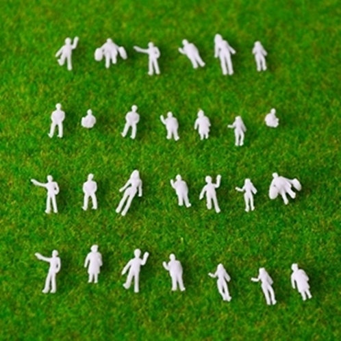 1:200 Scale White Model Figures - 50/100 Figures per Pack