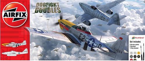 Airfix Starter Gift Set - Messerschmitt Me262 & P51D Mustang Dogfight Double