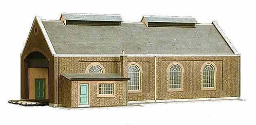 Superquick Model Card Kit - Two Road Loco Shed