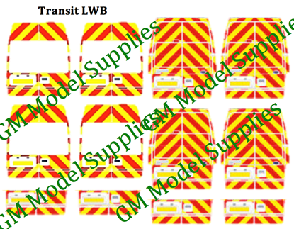 Transit LWB Rear Conversion Kit- Yellow/Red Chevrons