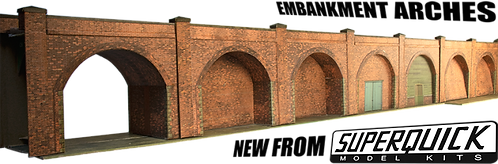 Superquick Model Card Kit - Embankment Arches