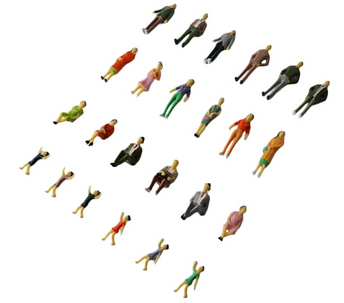 1:25 Scale Mixed Painted Model Figures/People