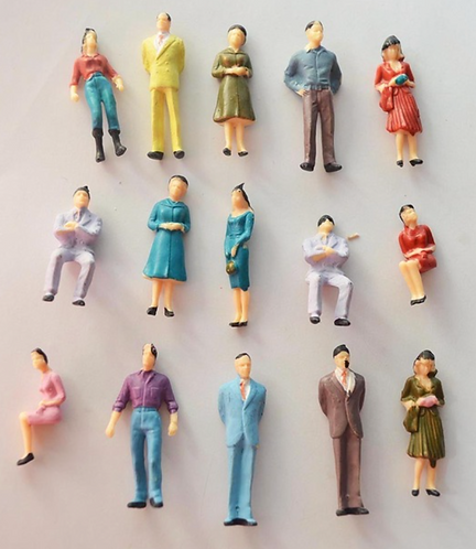 1:50 Scale Painted Mixed Architectural Model Figures/People