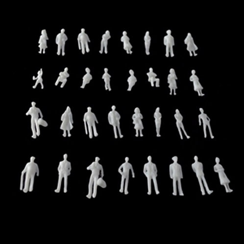 1:100 Scale White Architectural Model Figures/People