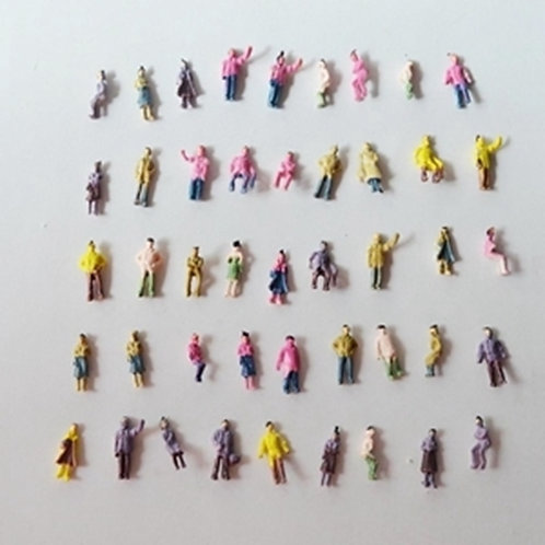 1:200 Scale Painted Model Figures - 50/100 Figures per Pack