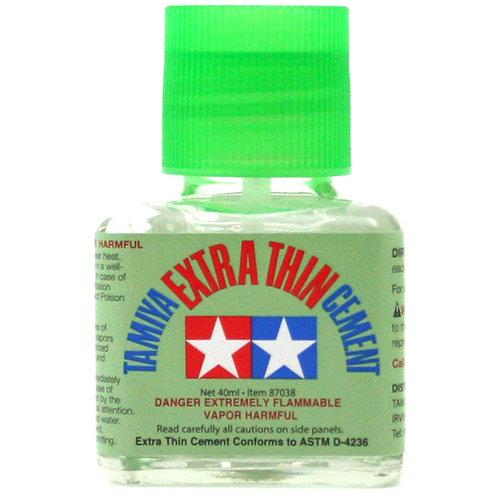 Tamiya Extra Thin Cement 40ml - Brush Applicator