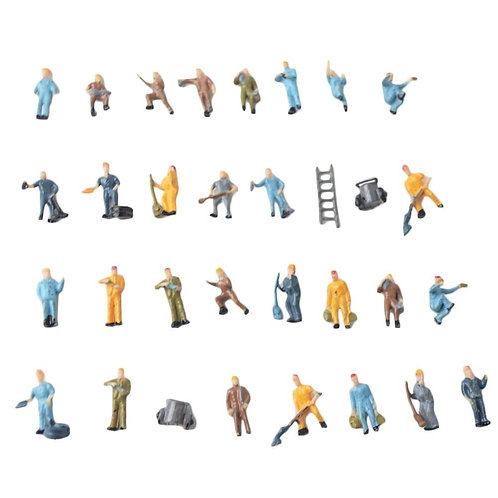 00 Gauge/1:87 Scale Model Railway Worker Figures/People - Packs of x10