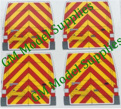Transit SWB Rear Conversion Kit- Yellow/Red Chevrons