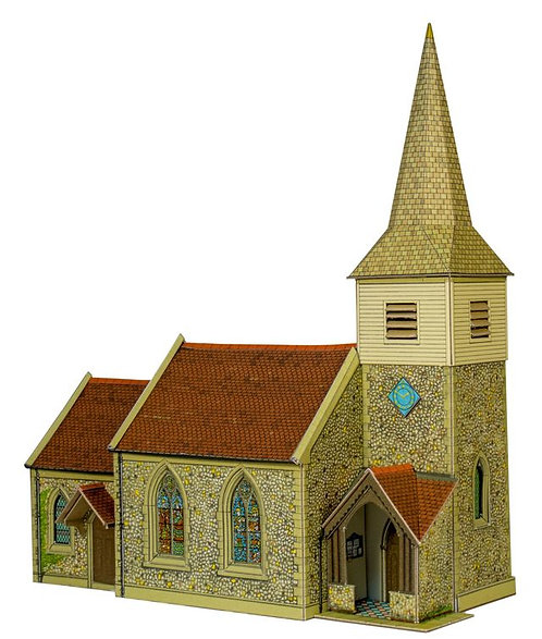 Superquick Model Card Kit - Country Church