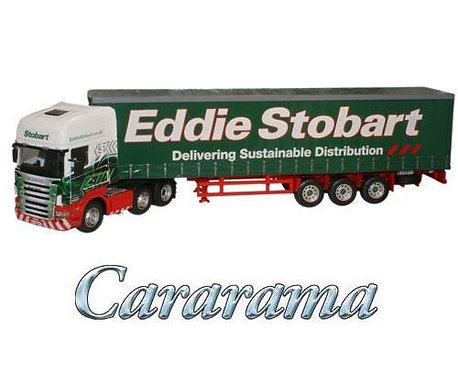 Cararama Scania 1/50 Scale Curtainside Lorry- Eddie Stobart