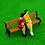 Thumbnail: 1:76/00 Gauge Scale Model Park Benches - Wood/Black