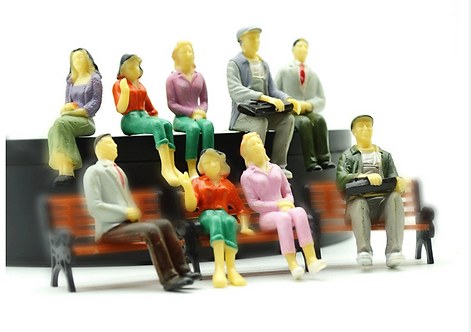 1:25 Scale SEATED Painted Model Figures/People