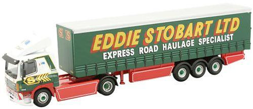 Oxford Diecast Leyland DAF Curtainside - Eddie Stobart Livery