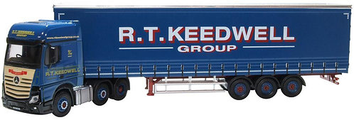 Oxford Diecast Mercedes Actros Curtainside - R T Keedwell Livery