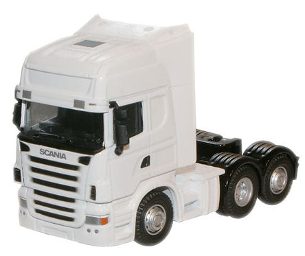 Oxford Diecast Scania Cab- White