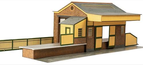 Superquick Model Card Kit - Goods Depot - Stone or Red Brick