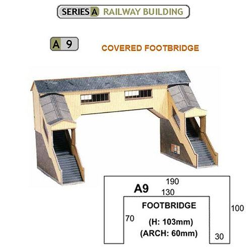 Superquick Model Card Kit - Covered Footbridge